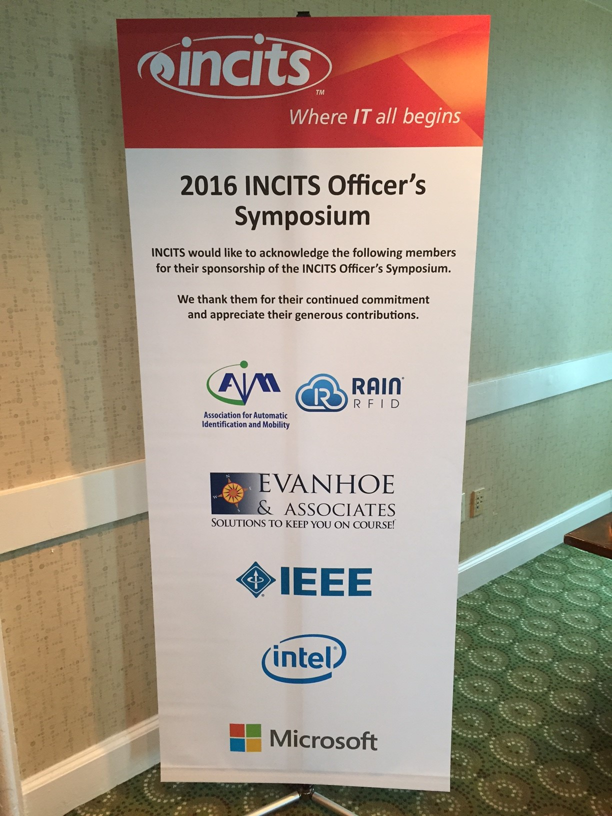 2016 INCITS Officers Symposium